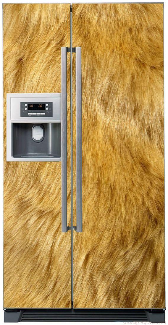 Наклейка  на холодильник - Шерсть льва