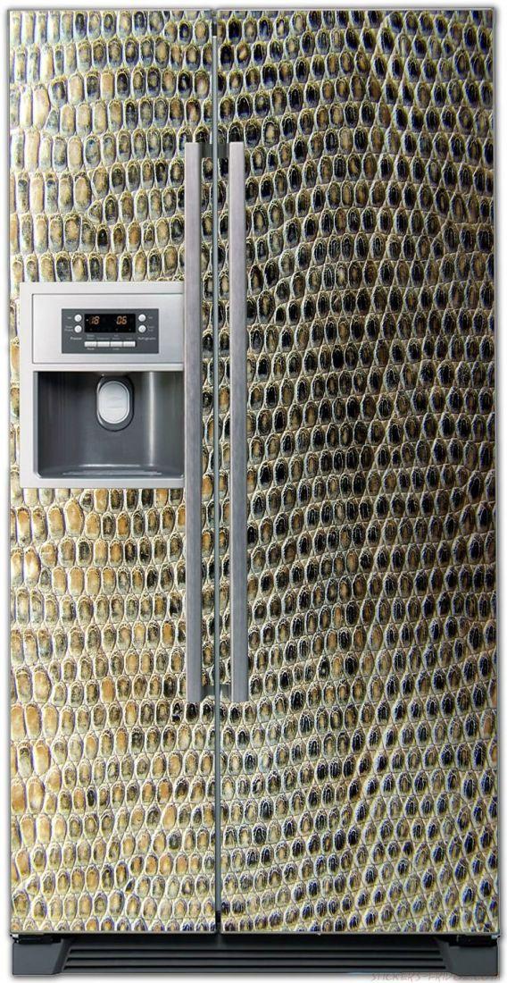 Наклейка на холодильник - Кожа крокодила