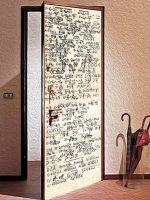 Виниловая наклейка на дверь - Формулы