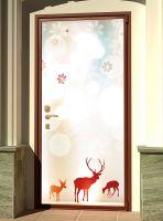 Виниловая наклейка на дверь - Северное сияние 2