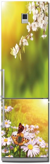 наклейка на холодильник - Весна