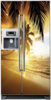 Виниловая наклейка на холодильник -  Пляж 2