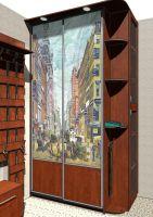 Наклейка на шкаф - Бродвей 1885 год.