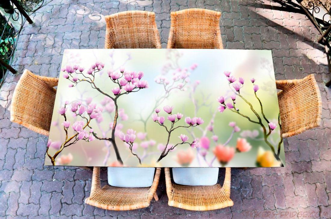 Наклейка на стол - Искусство цветения