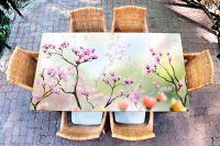 Наклейка на стол - Искусство цветения  | Купить фотопечать на стол в магазине Интерьерные наклейки