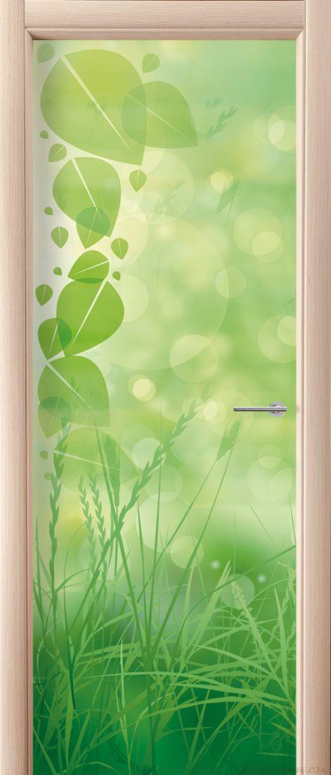 Фотообои на дверь - Зеленая трава
