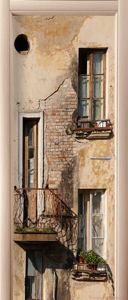 Фотообои на дверь - Балкон