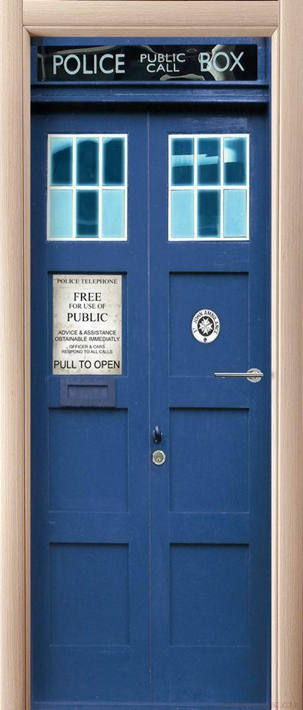 Фотообои на дверь - Police Box