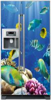 Виниловая наклейка на холодильник -  Лагуна