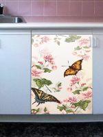 Наклейка на посудомоечную машину - Floral-2