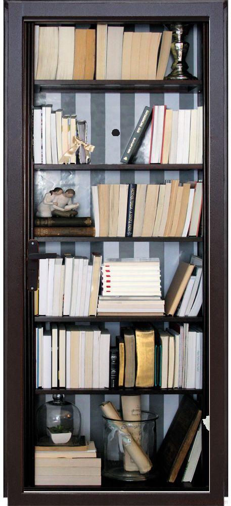 Наклейка на дверь - Книжный шкаф
