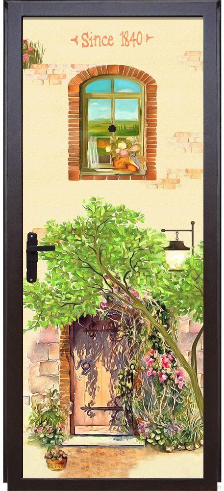 Наклейка  на дверь - 1840