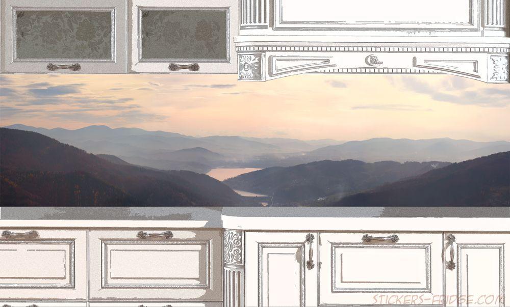 Фартук для кухни - Вдоль гор