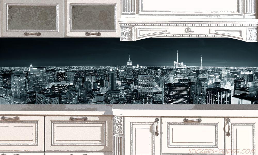 Фартук для кухни, наклейка - New York 4