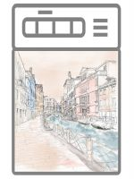 Наклейка на посудомоечную машину и кухню - Венеция 1