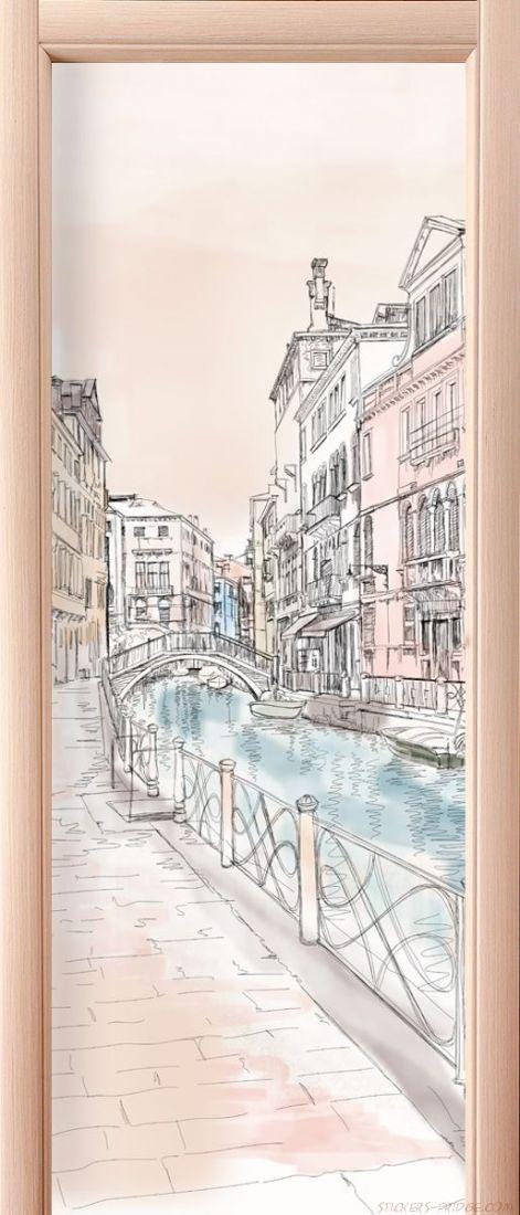 Наклейка на дверь - Венеция 1
