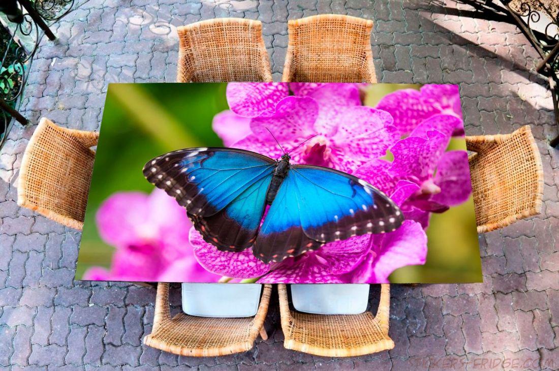 Наклейка на стол - Бабочка Морфо