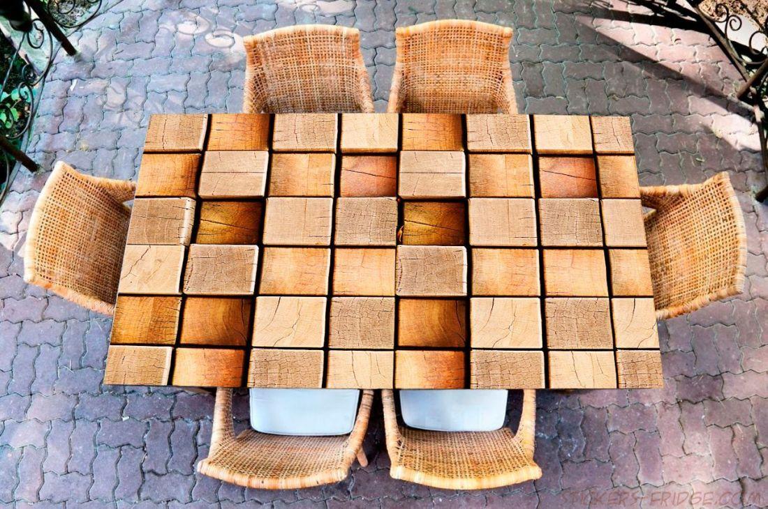 Наклейка на стол - Wood